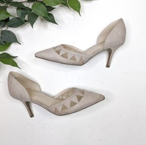 Marc Fisher Tricky D'Orsay Faux Suede Point Heels